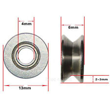 2 x 624VV V-Groove Sealed Ball Bearings Roulement à Billes 4 X 13 X 6mm 3mm Deep
