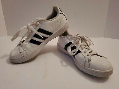 Adidas Women Cloudfoam Advantage 3 Stripe Athletic Sport Shoes White Black Sz 8   eBay