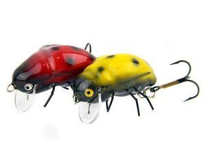 Imitations-d-039-insecte-Microbait-Ladybird-1-6g-24mm-Floating-leurre-de-surface