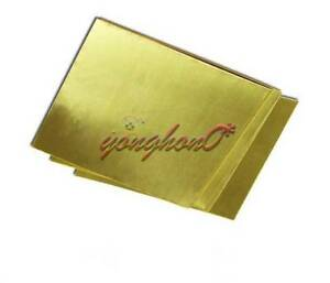 1pcs Brass Metal Sheet Plate 3mm x 100mm x 100mm
