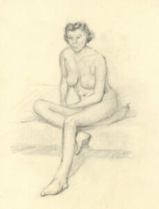 Geoffrey Richard Mortimer - Mid 20th Century Graphite Drawing, Two Female Nudes