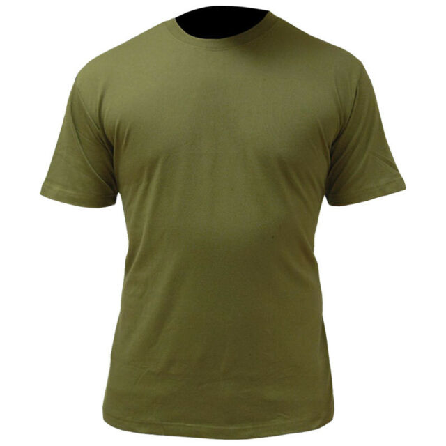 32050c0e7c5 Good Quality Army Green T-shirt by Highlander Olive Military Style ...