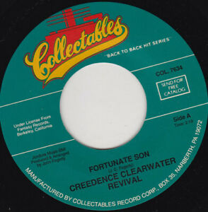 """CREEDENCE CLEARWATER REVIVAL - Fortunate Son 7"""" 45"""