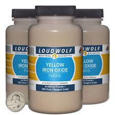 Iron Oxide Yellow 15 Lbs 3 Bottles 99 Reagent Grade 44 Micron Powder