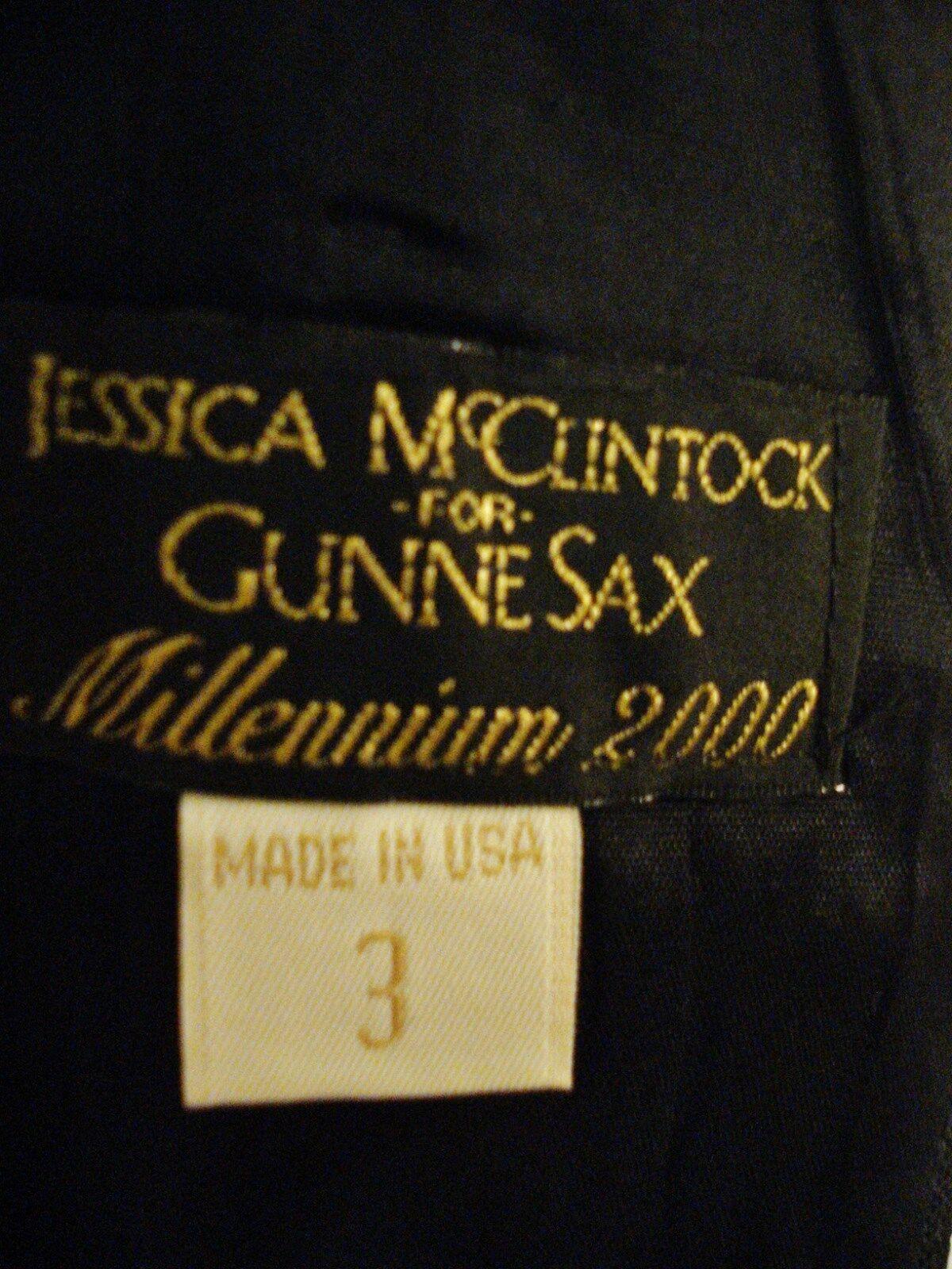 Gunne Sax Black Formal Evening Wear Dress Rhinest… - image 3