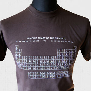 The periodic table of elements t shirt brown ebay image is loading the periodic table of elements t shirt brown urtaz Images