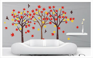 HUGE maple Tree Wall Art Sticker Removable Vinyl Decal ...