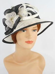 3de8236ab45 New Woman Church Derby Wedding Party Sinamay Dress Hat 7045 Black ...