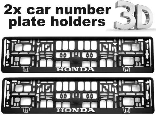 2 x 3D CAR Number Plate Surround Holder Frames BEST FIT for HONDA