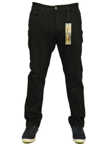 Mens New King Size Straight Leg Stretch Chinos Jeans In Black Grey White  42-60