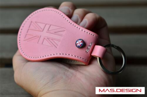 Pink leather case For 2014 on MINI Cooper S F54 F55 F56 F60 F57 JCW ALL4 ONE SD