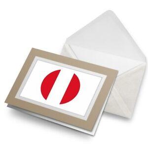 Greetings-Card-Biege-Cool-Peru-Flag-Map-9026