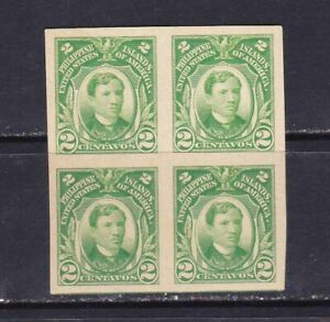 US-Philippines-1931-RIZAL-IMPERFORATE-Scott-039-s-340-in-Block-4-mint-NH
