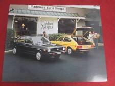1976 76 Volkswagen Dasher Specification Sheet