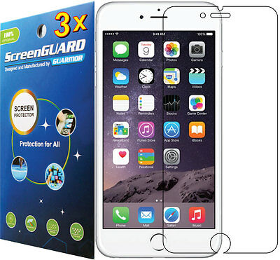 """3x Clear Screen Protector Guard Film Apple iPhone 6 6s and iPhone 7 w/ 4.7"""" LCD"""