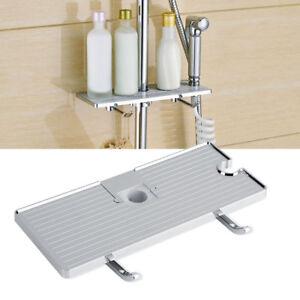 Image Is Loading Bathroom Pole Shelf Shower Storage Caddy Shampoo Rack