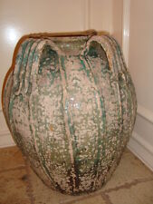 """Antique large French terracotta jar jug pitcher South France, circa 1850, h-19"""""""