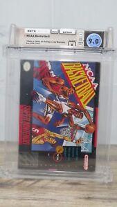 1992 NCAA Basketball Super Nintendo Factory Sealed Video Game Wata 9.0 Graded