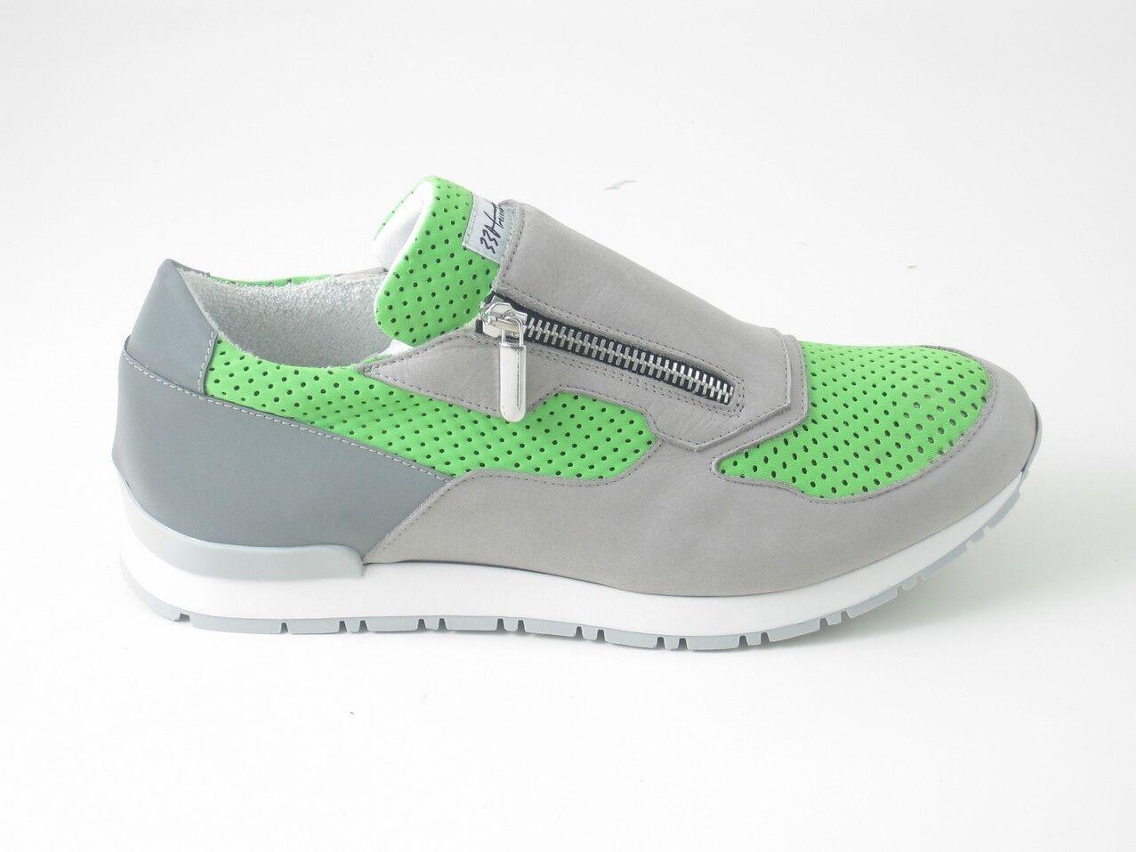 Schuhe Herren Turnschuhe Turnschuhe Grau grün Gr 42 Made in  Neu