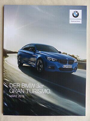 Bmw 3er Gran Turismo 340i M Sport Typ F34 - Prospekt Preisliste Brochure 03.2019