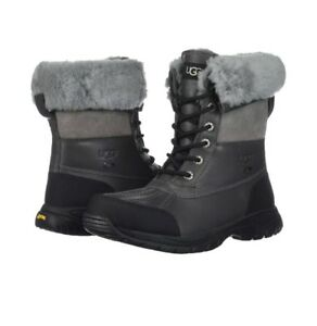 d37fb731624 Details about Men UGG BUTTE METAL GREY WATERPROOF LEATHER WINTER BOOTS SIZE  US 8/UK 7/EUR 40.5