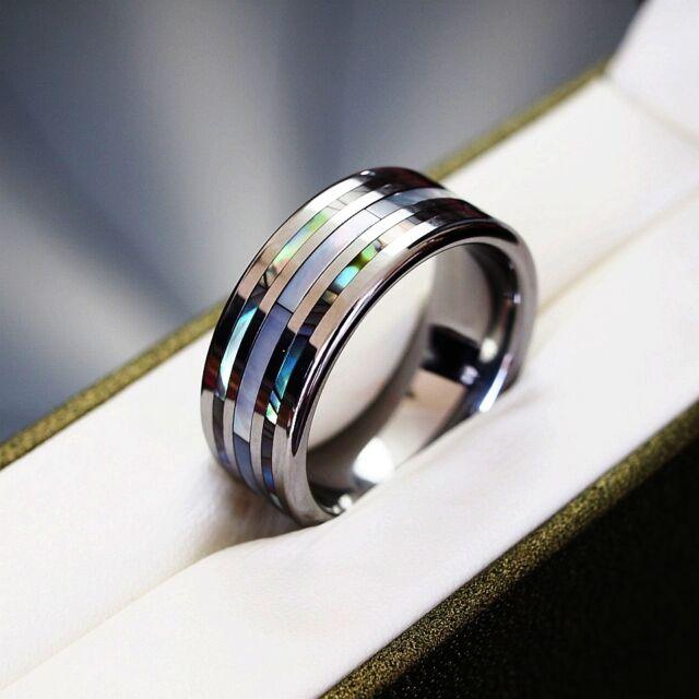 Original Tungsten Carbide Ring Wedding Band Engagement Size Q S T V Y Z Men 1