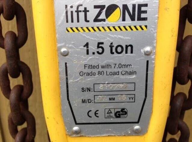 Løftetalje / skraldetalje 1.5 ton