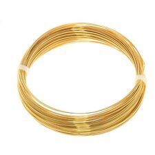 Bead Craft Wire Gilt on Copper 0.50mm (15 AWG) - 15 Metres (C68/2)