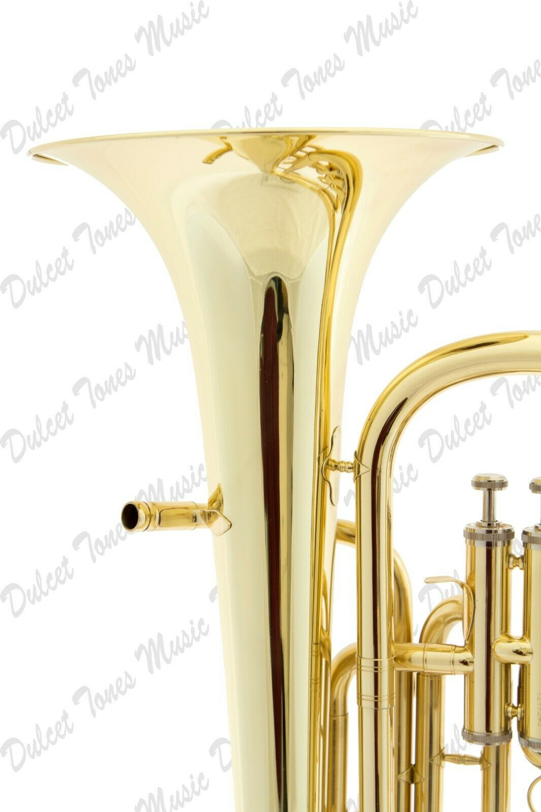 Alto Horns Stagg Bb Three Valve Baritone Horn Brass Body Clear Lacquer Finish Fast Postage Brass