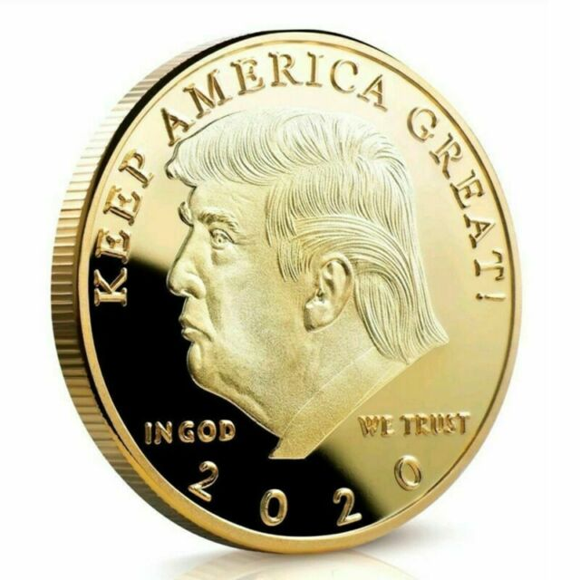 TRUMP 10 Pcs Keep America Great 2020 Commemorative GOLD /& SILVER Coin NICE!