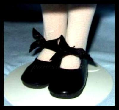 BLACK Patent 2-1//2 x 1-1//8 inch BOW SHOES fit Kish Seasons Doll