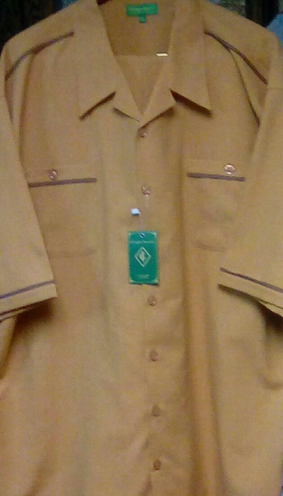 Men's Insearch 2 pc.Mustard Short Sleeve Walking Suit SZ 4XL