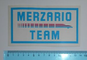 ADESIVO-STICKER-VINTAGE-AUTOCOLLANT-MERZARIO-TEAM-ANNI-039-80-14x8-cm-RARO