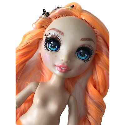 Details about  /Rainbow High Doll Poppy Rowan Series 1 Nude Orange Hair Custom with Stand