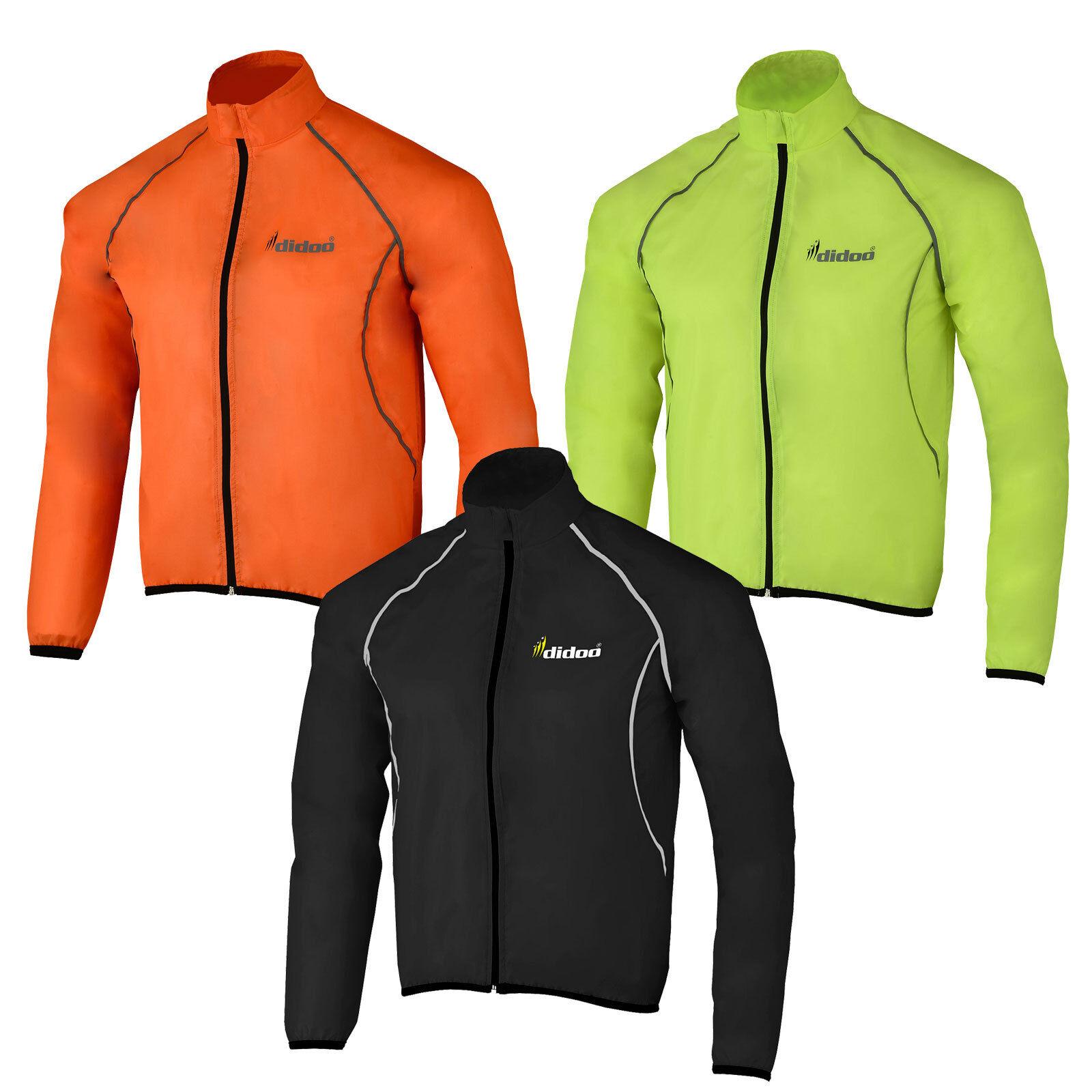 Mens cycling jacket high visibility waterproof running top for Hi viz running shirt