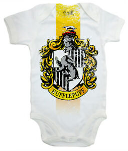 Image Is Loading Harry Potter Baby Bodysuit 034 Hufflepuff House Crest
