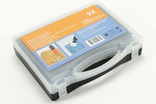 Koffer 9 tlg Bi-Metall  Lochkreissäge  SCH Säge inkl mit 2 Zentrierbohrern