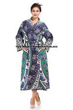 Women Lady Indian Long Elephant Mandala Bride Kimono Bath Robe Night dress Gown