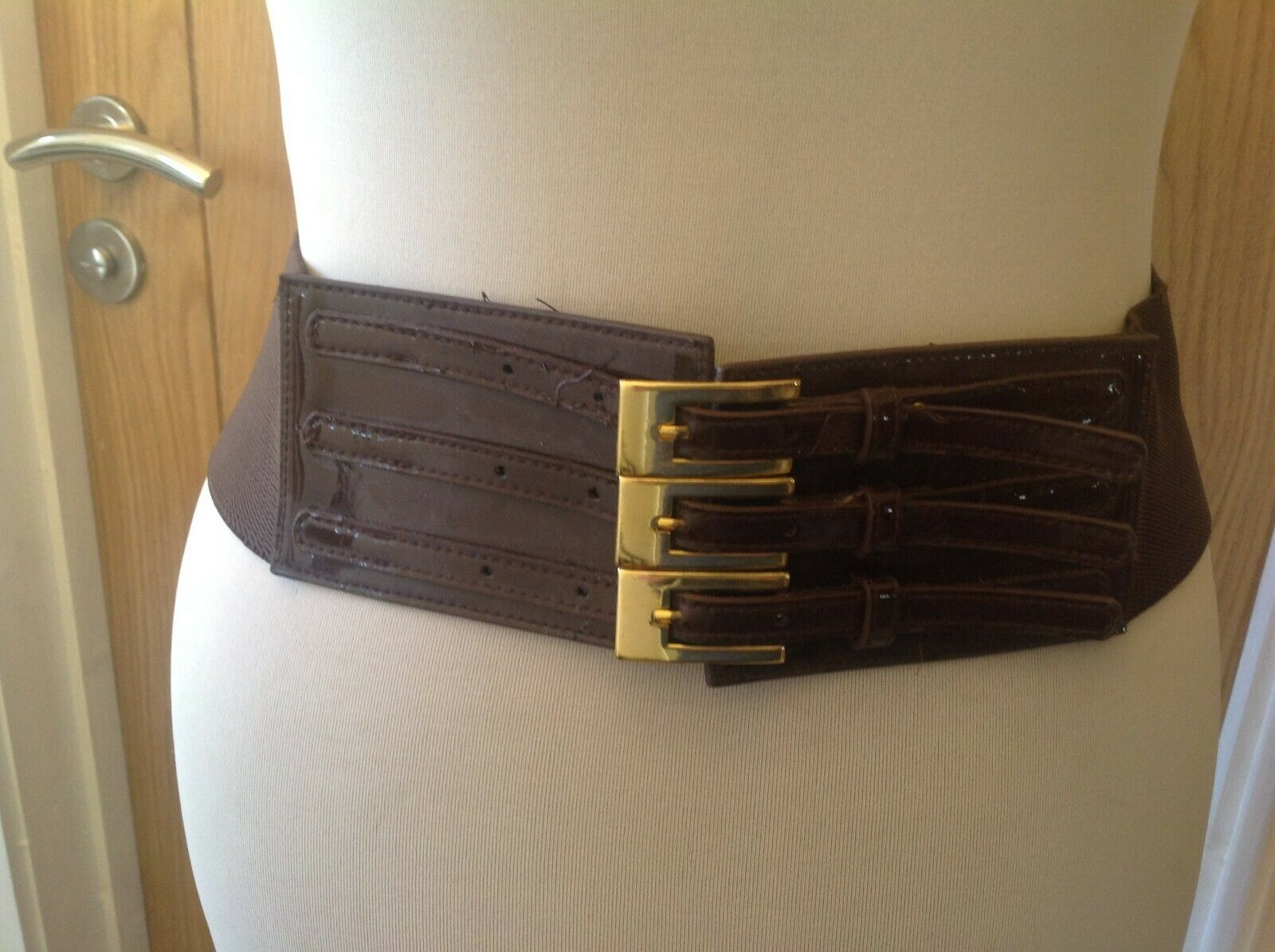 Ladies Various BROWN Belts - various widths and styles stretch / rivet / plain