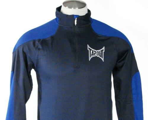 TapOut Signature 1//4 Zip Blue Long Sleeve Warm Up Athletic Shirt Mens NWT