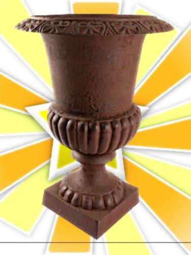 Topf auf Fuss Eisenguss Vase antik Rostfarbene Deko 14 cm Geschenk in Vintage