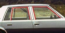 1980-1990 Chevrolet Caprice & Impala 4dr front & rear door window channel seals