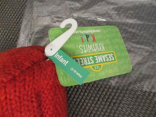 ELMO HAT knit INFANT chin strap WARM 3-18 months NEW cap Sesame Street delux