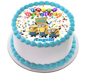 Admirable Despicable Me Minion Real Edible Icing Cake Topper Party Image Personalised Birthday Cards Cominlily Jamesorg