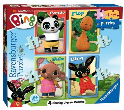 Jigsaw Bing Bunny 2 3 4 /& 5 Ravensburger My First Puzzle