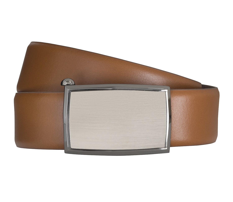 LLOYD Men's Belts Gürtel Herrengürtel Ledergürtel Automatikschließe Cognac 6593