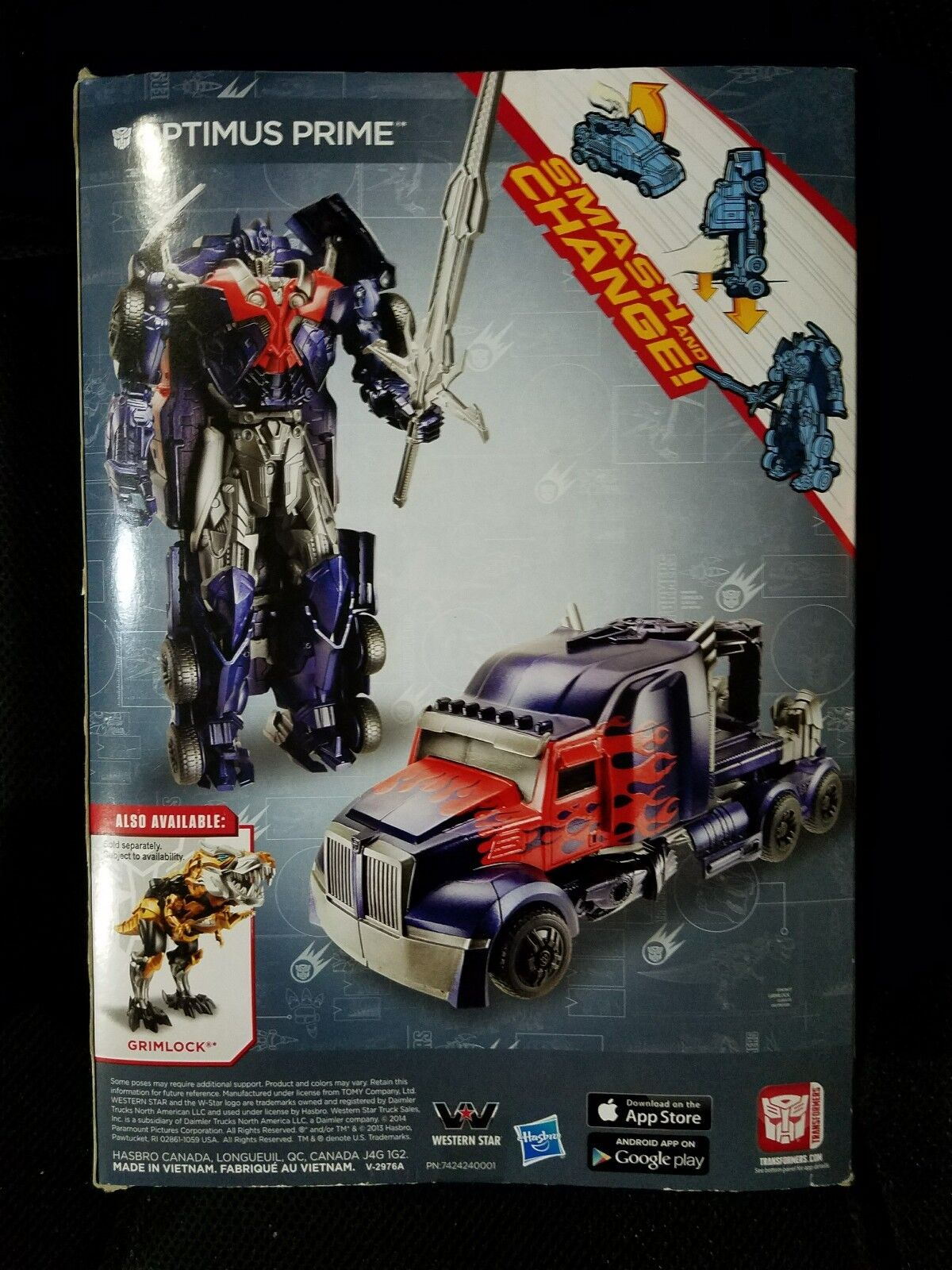 New Hasbro Hasbro Hasbro Transformers Movie 4 SMASH & CHANGE OPTIMUS PRIME Action Figure cea5ed