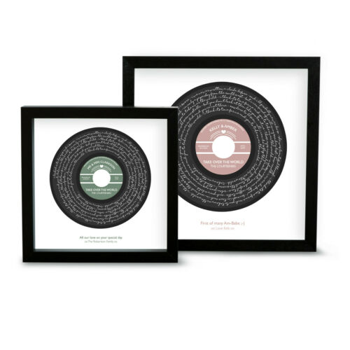 Personalised The Courteeners Take Over The World Song Lyrics Print Vinyl Record