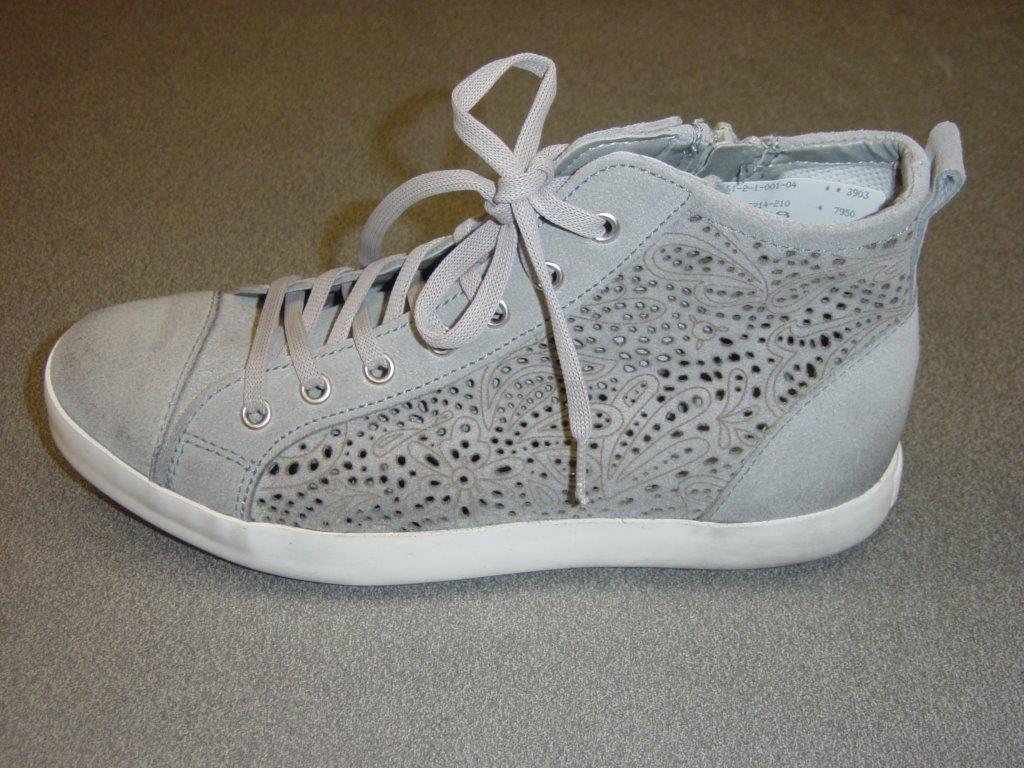 Tamaris High-Top Sneaker Stiefel   grey   Leder   knöchelhoch   Größe 36