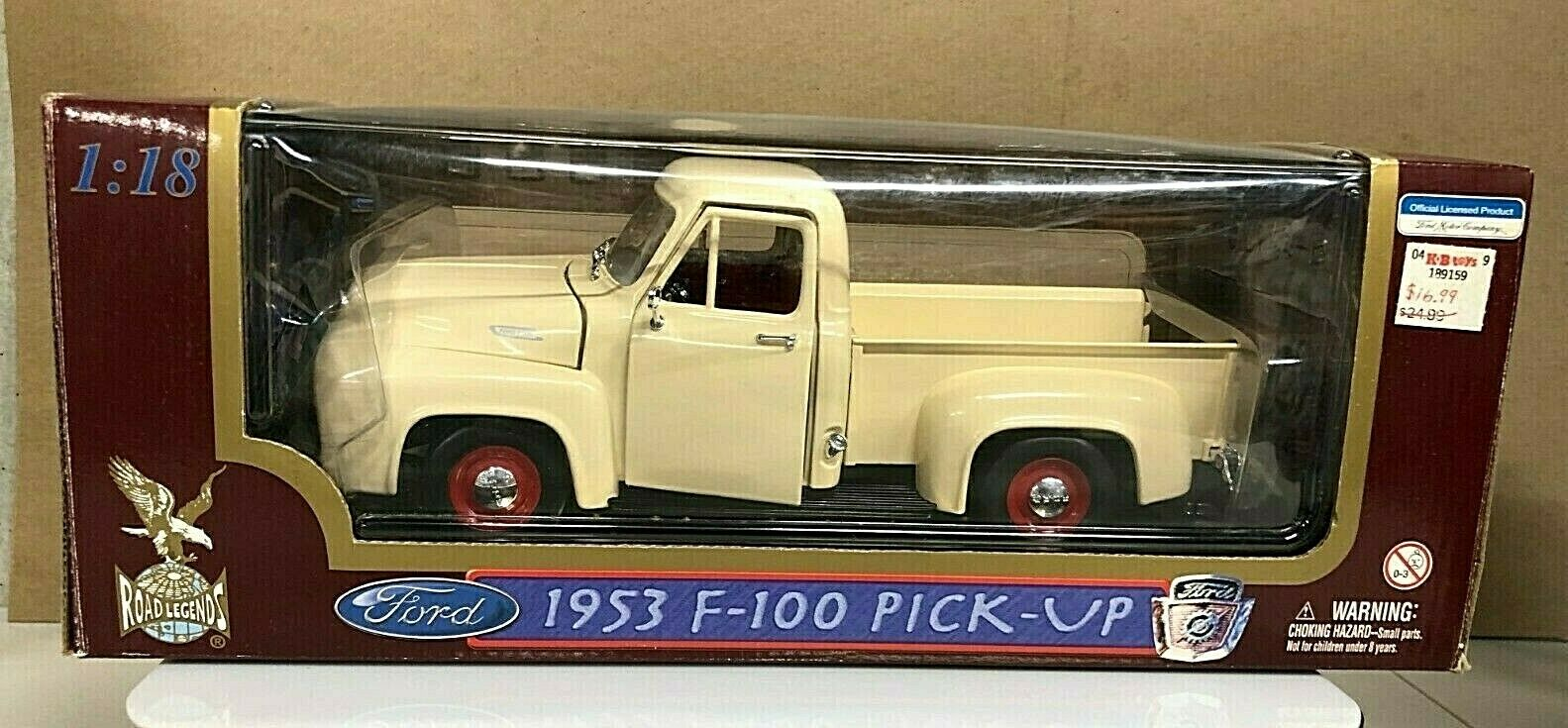 ROAD LEGENDS 1953 F-100 FORD PICK-UP 1 18 DIE CAST CREAM       3061